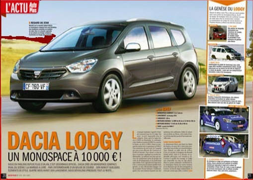 Renault a anuntat pretul modelului Dacia Lodgy (1/2)